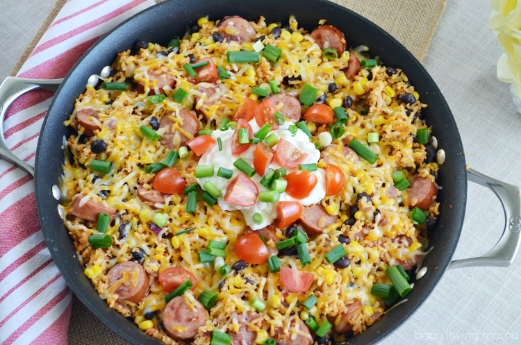Mexican Rice Sausage Skillet