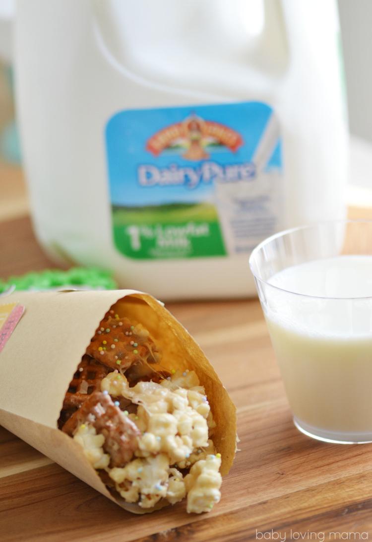 Milk with Marshmallow Popcorn