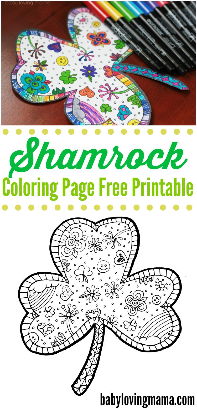 Shamrock Coloring Page Free Printable