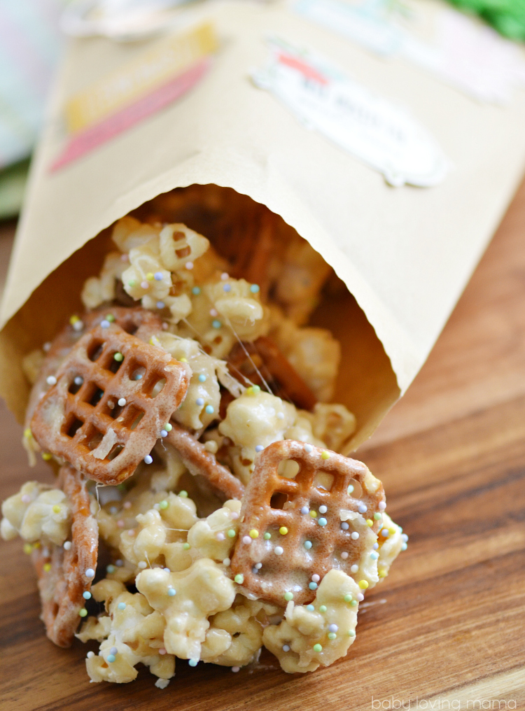 Spring Marshmallow Popcorn with Treat Bags