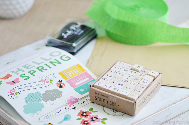 Spring Paper Treat Bag Supplies