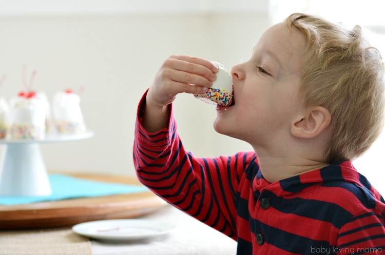 Wes Eating Chocolate Dipped Jumbo Marshmallows