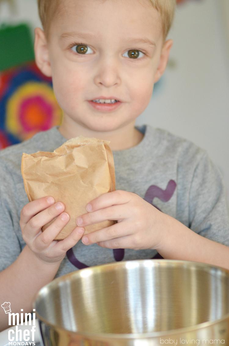Wesley Making Pudding or Mini Chef Mondays