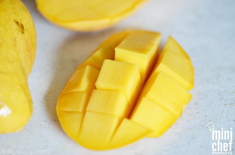 Cut Champagne Mango for Italian Ice
